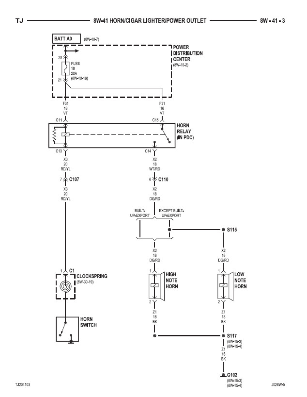 horn jeep jk horn wiring diagram jeep wiring diagrams instruction 2008 jeep wrangler horn wiring diagram at virtualis.co